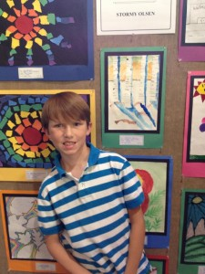 Carsten at the HUSD Art Show