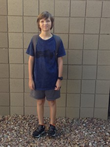First day of 7th Grade