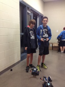 Cam and his partner at Robotics
