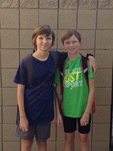 First day of school 7th and 4th grades