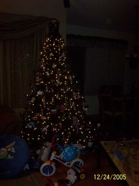Our tree after Santa's arrival.