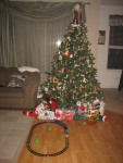 Our tree after Santa came