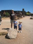 Mark and Boys in front of Goldfield