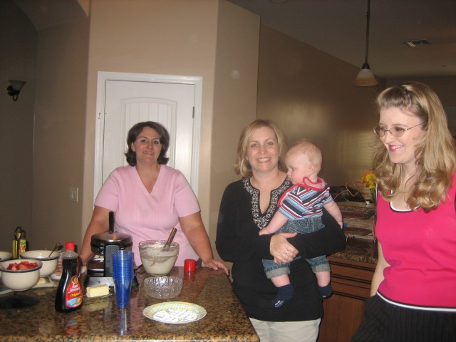 Lori, Jennie with Liam and Carrie