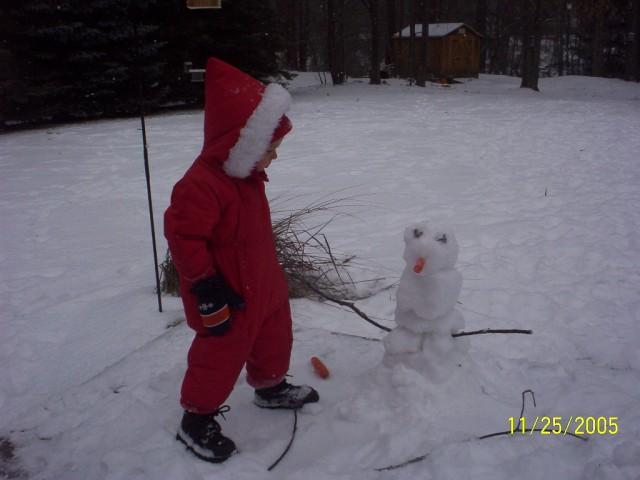 Camden's snowman
