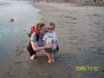 Mom and Camden on Beach