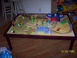 Train table daddy built