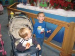 Waiting in line to see Santa!