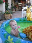 Swimming at Gramma Tucson's House