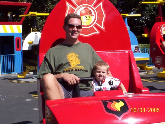 Mark & Camden flying the fire copter